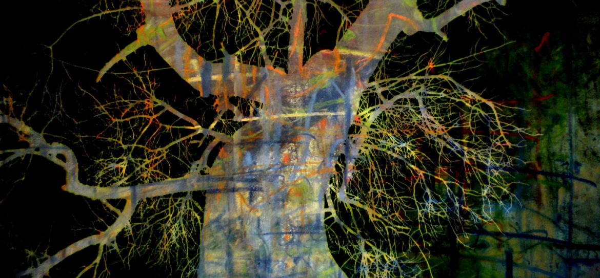 Bush Trees Mixed media 2012